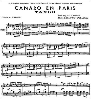 2017-04-18 - Canaro En Paris - Sheet Music