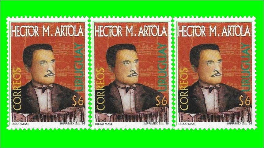 2019-07-10 - Uruguay Stamp - Hector Artola - 1998